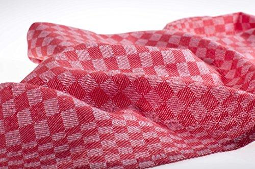 8-er Pack verschieden Farben Grubentücher/Geschirrtücher/Putztücher/ Halbleinen 50x100 cm 55%Leinen45%Baumwolle (rot)