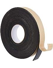 BENECREAT 10 m Zelfklevende Foam Strip 30 mm (W) x3 mm (T) Zwart Enkelzijdig Weer Strippen Schuim Seal Tape voor Raamdeur Isolatie (10 m/Roll)