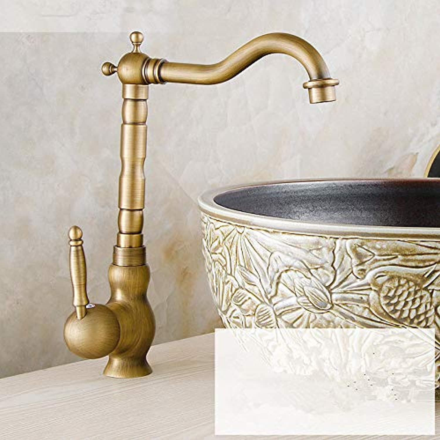 XPYFaucet Faucet Tap Taps Antique copper basin European retro redating heightening