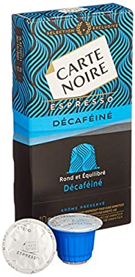 Carte Noire Decaf Nespresso Compatible Coffee Capsules, Pack of 10 (100 capsules)