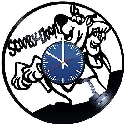 AmKa Scooby-Doo Handmade Vinyl Record Wall Clock Fun Gift Vintage Unique Home Decor