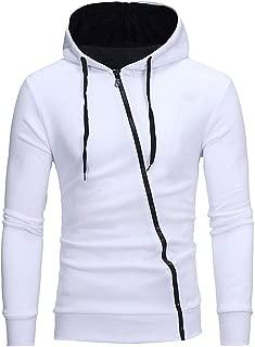 Men's Heavy Blend Fleece Hooded Sweatshirt, Contrast Raglan Long-Sleeve Pullover Hoodie with Pockets Zipper