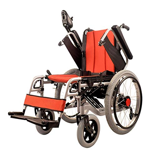 KAD Silla de ruedas eléctrica plegable, batería de polímero de iones de litio (20A) - para personas mayores y discapacitadas J h