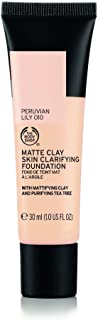 The Body Shop Matte Clay Skin Clearing Foundation, Peruvian Lily Shade 010, 1 Fluid Ounce