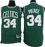 XXMM Camiseta para Hombre, NBA Boston Celtics # 34 Paul Pierce Camiseta De Baloncesto, Camiseta Sin Mangas De Edición De Tela De Malla Transpirable, Trajes De Competición Deportiva,XXL(185~190CM)