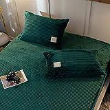 Juego de 2 cojines decorativos de pana rectangulares de poliéster suave y cómodo granulado para salón o dormitorio, 48 x 74 cm