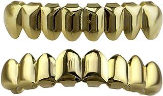 Sharplace Hip Hop Grills Fond /& Haut Dents Amovibles 18k Or Plaqu/é Charms 1 Paire