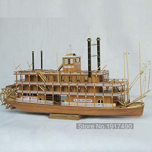 Maquetas De Barcos Kit Modello Kits De Maquetas De Barcos De Madera Modelo De Juguete Educativo Barco De Bricolaje Hobby Modelo Barcos De Madera Escala De Corte Láser 3D 1/100 Mississippi 1870