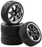 Carson 500900547 1:10 SC Räder W7 Style chrom 4, schwarz