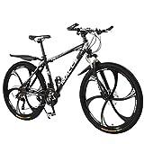 VTT,20 Pouces Vélos,Adulte VTT,Vélo de montagne à vitesse variable d'absorption des chocs légers,Vélos de route Vélos de ville (Black)