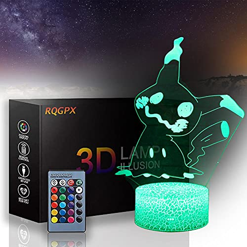 Pokemon 3D Lighting for Kids Night Light Pikachu with Touch Control Christmas Birthday Gifts for Kids