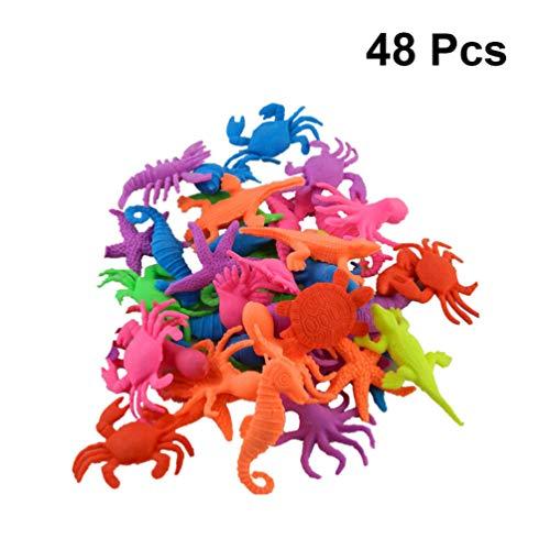 Toyvian Criaturas Marinas Que Crecen Agua Resina Animales Oceánicos Expandibles Figuras Niños Aprendiendo Juguetes para Niños Favores de Fiesta (Patrón Aleatorio)