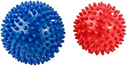 newgen medicals hedgehog ball: 2 massage balls with nubs for reflexology and much more, Ø 9 & 7,5 cm (stress ball)
