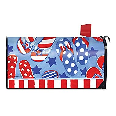Briarwood Lane Summer Fun Patriotic Magnetic Mailbox Cover Flip Flops