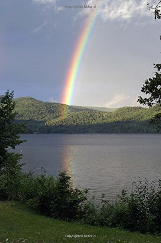 Rainbow at Lake Canim British Colombia Journal: 150 Page Lined Notebook/Diary