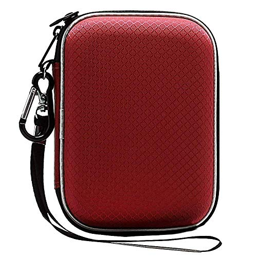 Lacdo Custodia Hard Disk Esterno per Western Digital WD Elements WD My Passport WD My Passport Ultra WD Black P10 Toshiba Canvio Basics 1TB 2TB 3TB 4TB 5TB, 2,5 Pouces Antichoc Pochette Portable,Rosso