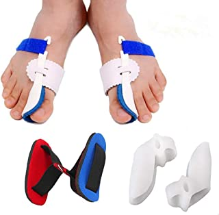 Bunion Corrector Adjustable Bunion Splint Night Time Soft Gel for Bunion Relief, Bunion Corrector and Bunion Relief Protector Brace Kit for Big Toes, Bunion Pads, Toe Straightener, Toe Separators ¡­