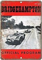 ブリッジハンプトン自動車レースプログラム再現金属看板