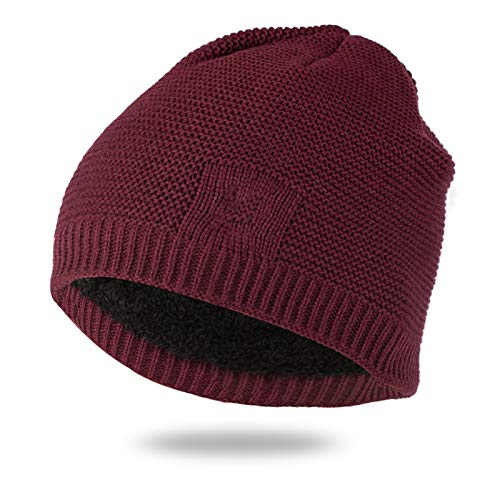 Liaiqing Men's & Women's Autumn & Winter Windproof & Warm Fashion Hedging & Down Hood Riding Ski Outdoor Sports Cap Comfortable Ear Protection Knitted Hat Outdoor Hat (Color : C)