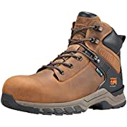 """Timberland PRO Men's Hypercharge 6"""" Composite Toe Waterproof Industrial Boot, Brown Full Grain Leather/Brown, 12 Wide"""