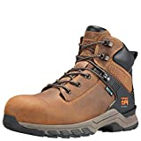 Timberland PRO Men's Hypercharge 6' Composite Toe Waterproof Industrial Boot, Brown Full Grain Leather/Brown, 9 Wide