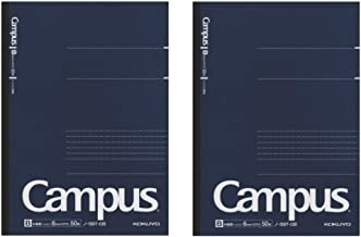 Kokuyo Campus Pre-Dotted Notebook, Semi B5-dotted 6 mm Rule - 30 Lines X 50 Sheets - 100 Pages, Pack of 2 Dark Blue
