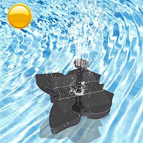 HEVÜY Mini Solar Springbrunnen, Solar Teichpumpe Garten Wasserpumpe Solarpumpe Outdoor, Solar Schwimmender Fontäne Pumpe, Solarwasserpumpe mit Effekte, für Gartenteich, Teich, Vogelbad