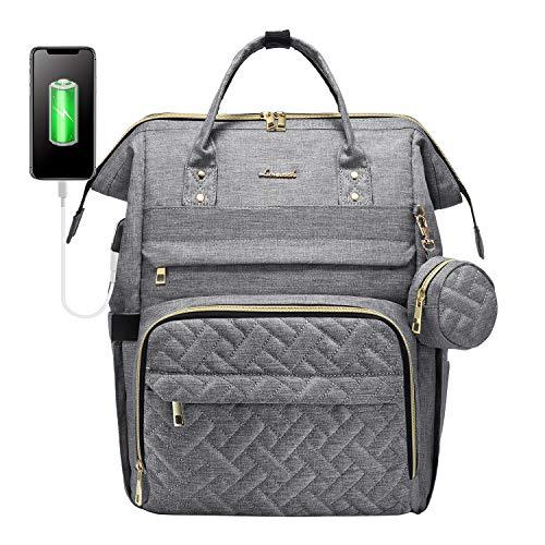 Wickelrucksack Baby Wickeltasche Rucksack Groß, Windeltasche Babytasche Für Unterwegs Mit 15,6 Zoll Laptopfach, USB-Ladeanschluss, Schnullerhalter Und Kinderwagengurte, Grau