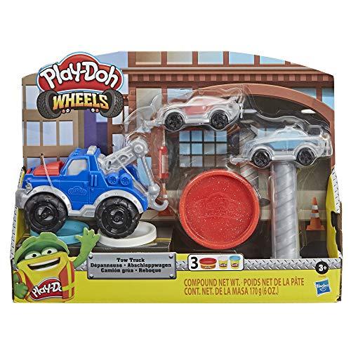 Play-Doh E6690 Wheels Abschleppwagen Spielzeug für Kinder ab 3 Jahren mit 3 Farben