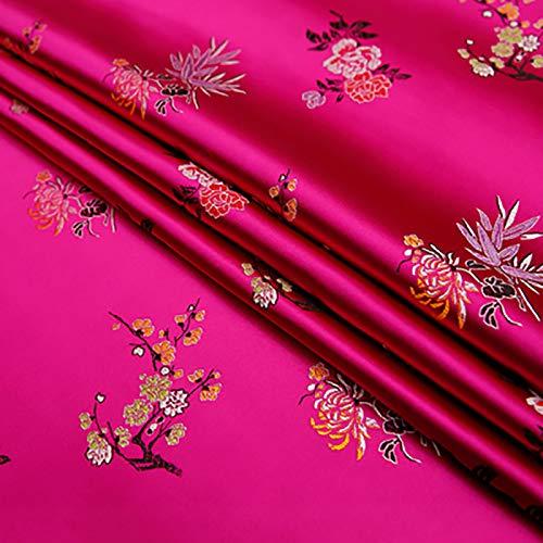 MUYUNXI Tela De Raso Forro De Tela para Vestidos De Novias Fundas Artesanías Vestidos Blusas Ropa Interior 75 Cm De Ancho Vendido por 5 Metro(Color:Rosa roja)