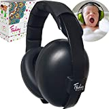 Fridaybaby Baby Ear Protection (0-2+ Years) - Comfortable and Adjustable Noise Cancelling Baby Ear Muffs for Infants & Newborns | Baby Headphones Noise Reduction for Airplanes Fireworks Concert, Black