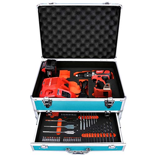 Milwaukee M18BPD 18V Combi Drill with 1 x 5Ah Battery, Charger & 70 Piece Accessory Set