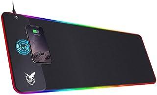 ICETEK RGB Gaming Mauspad XXL LED Mousepad Großes 800 x 300 x 4mm 10 Beleuchtungsmodi mit 10W Schnellladung Qi Wireless Ch...