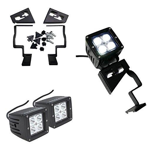 BESTSXMA - Kit d'éclairage LED pour capot avant - 12 W - Supports de montage en acier