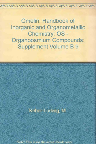 Gmelin Os.Organ.Vbg. Tl B (closed) 9 (Gmelin Handbook of Inorganic and Organometallic Chemistry - 8th edition)