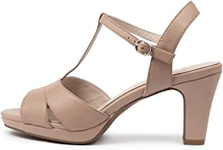 Supersoft Sable Nude Leather Womens Heels Womens Shoes