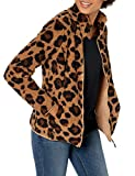 Amazon Essentials Polar Fleece Lined Sherpa Full-Zip Jacket Outerwear-Jackets, Leopardo, US L (EU L - XL)