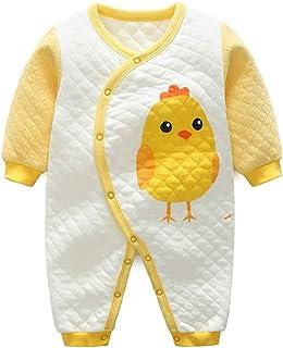 YFPICO Baby Overall Strampler mit Cartoon-Stickerei Jungen Mädchen Babystrampler Schlafanzug Jumpsuit Onesie Unisex Baumwolle