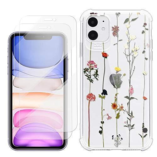 ZhuoFan Protector de Pantalla Funda para iPhone 5/5s/5c (4''),[2 Pcs] HD Cristal...