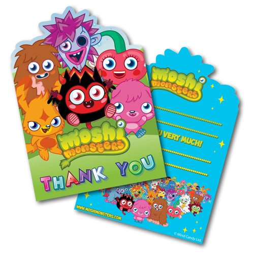 Moshi Monsters fête d'anniversaire vous remercient 1 pack de 6