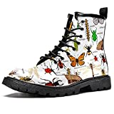 MAPOLO Women's High Top Boots Lace Up Natural...