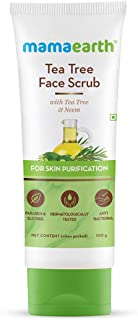 Mamaearth Tea Tree Face Scrub with Tea Tree and Neem for Skin Purification - 100g