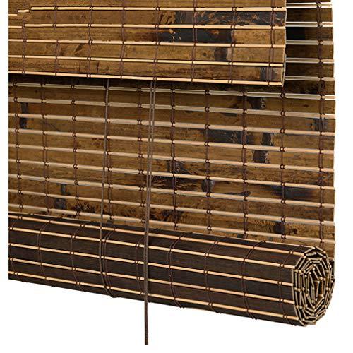 ZYFA Persiana de bambú para Interiores, estores de bambú Cortina de Madera persiana Enrollable Romanas Sombrilla de filtrado luz, Filtrado de luz, Privacidad