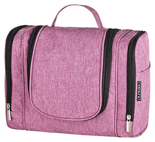 B.PRIME Kulturbeutel Classic XL Purple – Premium Kulturtasche mit extra viel Stauraum zum Aufhängen – Maße der Waschtasche 28x13x22cm