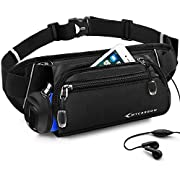 MYCARBON Fanny Pack for Women Men -Folded Water Bottle Holder Waist Pack -Waterproof Hydration Belt -No Bounce Running Bag -Adjustable Hip Bag for Travelling Running Hiking Cycling Fits iPhone 8 Plus