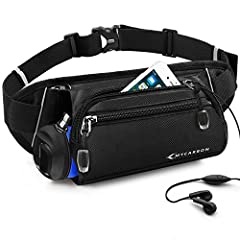【Updated Fanny Pack with Folded Water Bottle Holder】(THE WATER BOTTLE IS NOT INCLUDED) It is a lightweight cool waist packs for walking or running which can hold the water bottle invisibly and conveniently. This running waist bag for women and men wa...