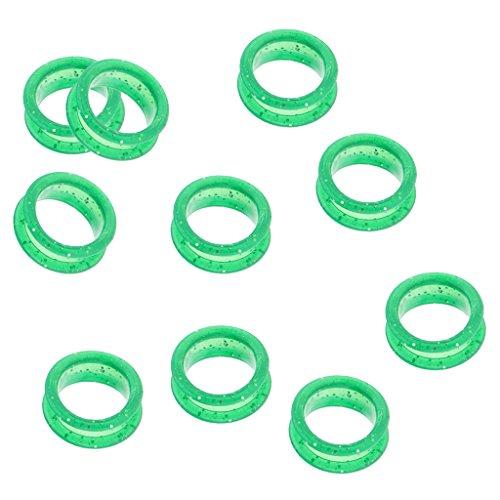 F Fityle 10x Insertos de Anillo de Dedo de Tijeras para Peluquería Tijeras de Peluquero - Verde