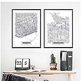 ad Canada Toronto City Map Poster und Drucke Modern