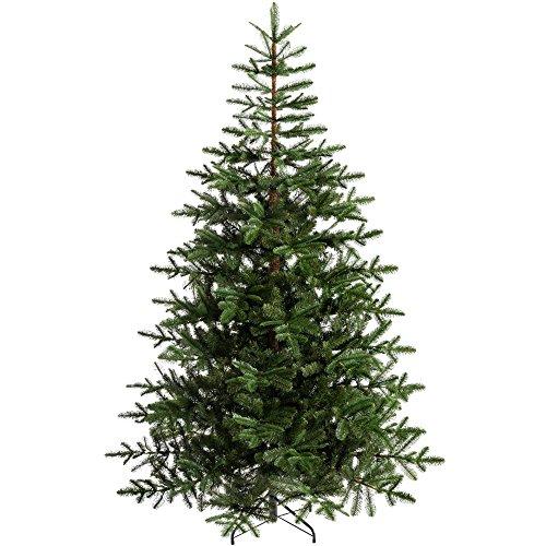 WeRChristmas Sapin de Noël, Sapin de Nordmann, en Plastique, Vert, 1,80m, Plastique, Green, 6 Feet/1.8 m