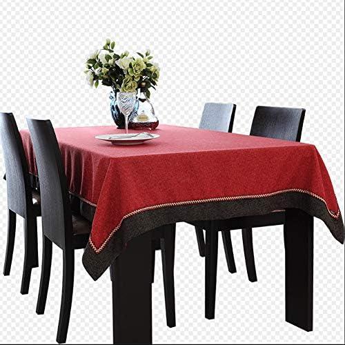 Rechteckige Tischdecke Des Roten Tischtuches Einfache Normallackhandw he,140  20cm